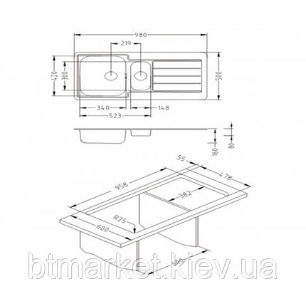 Кухонная мойка ALVEUS MONARCH LINE 10 медь 1078567, фото 2