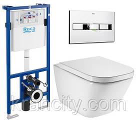 Инсталляция ROCA Pro A890090020 + панель смыва A890096001 + унитаз ROCA Gap A34H47C000 с сиденьем SoftClose