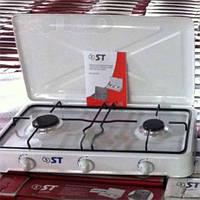Таганок газовый на 2 канфорки ( плитка ) настольный Чехия ST 63-02