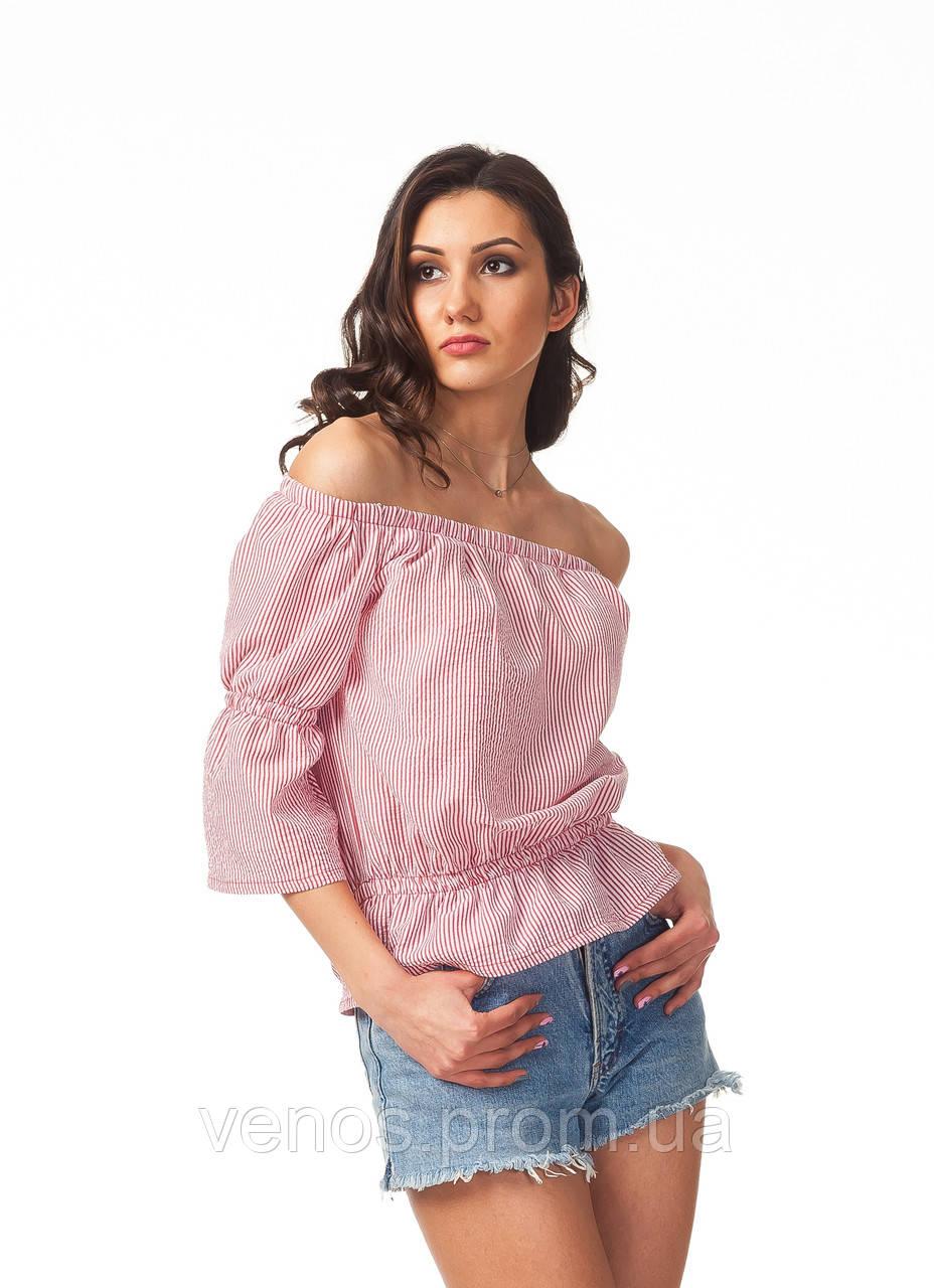 Женская модная кофточка с открытыми плечами. К088