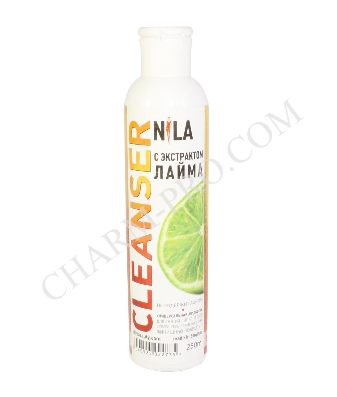 Клинсер для снятия липкого слоя Nila 250 ml. (лайм)