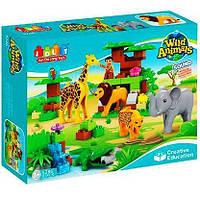 Конструктор крупные детали для малышей JDLT 5286 Средний Зоопарк 83 детали, фото 1