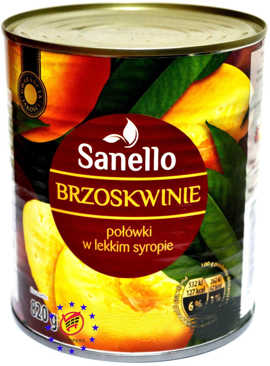 Персик дольный, десертный. Sanello Brzoskwinie 820g Польша