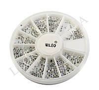 Пластиковые плоские стразы Mileo (карусель)