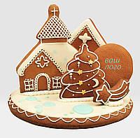 """Пряничная панорама """"Рождественская звезда"""" с логотипом"""