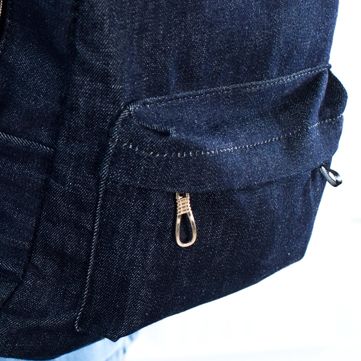 Стильный женский джинсовый рюкзак Mayers, темно-синий, фото 3
