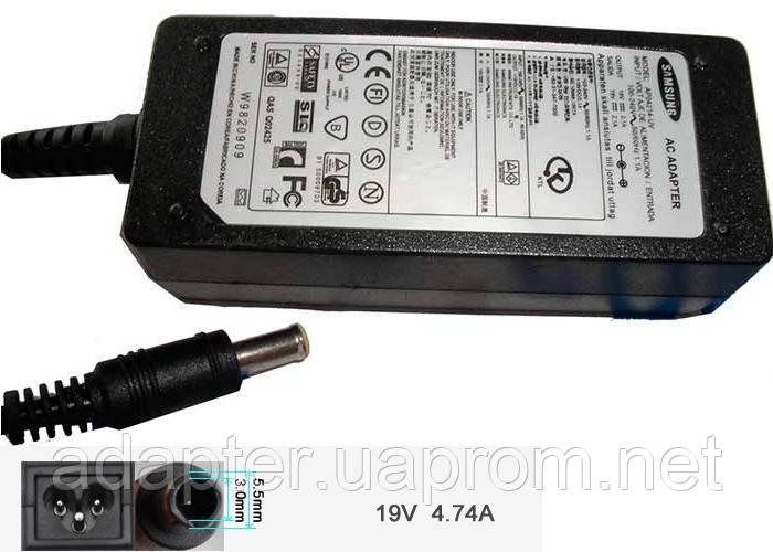 Адаптер сетевой для ноутбуков Samsung 19V 2.1A; 5,5*3,0