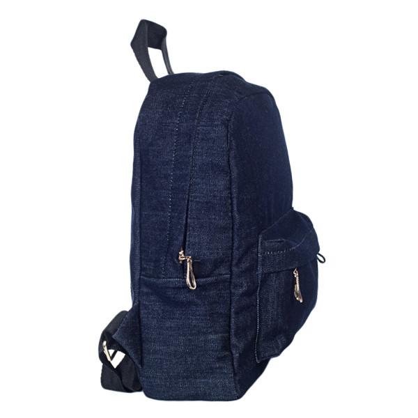 Стильный женский джинсовый рюкзак Mayers, темно-синий, фото 4