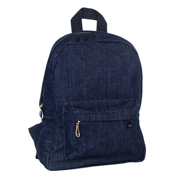 Стильный женский джинсовый рюкзак Mayers, темно-синий, фото 5