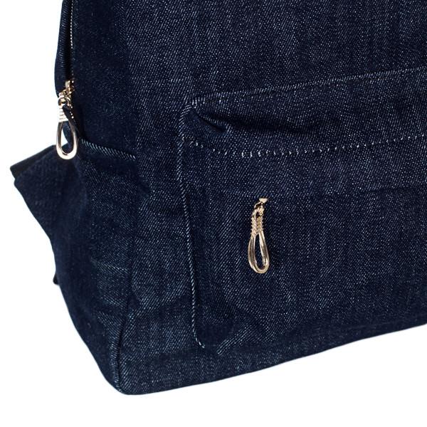Стильный женский джинсовый рюкзак Mayers, темно-синий, фото 6
