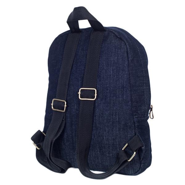 Стильный женский джинсовый рюкзак Mayers, темно-синий, фото 7