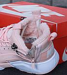 Зимние кроссовки Nike Huarache X Acronym City Winter Pink с мехом. Живое фото (Реплика ААА+), фото 2