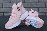 Зимние кроссовки Nike Huarache X Acronym City Winter Pink с мехом. Живое фото (Реплика ААА+), фото 5