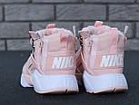 Зимние кроссовки Nike Huarache X Acronym City Winter Pink с мехом. Живое фото (Реплика ААА+), фото 3