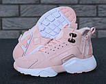 Зимние кроссовки Nike Huarache X Acronym City Winter Pink с мехом. Живое фото (Реплика ААА+), фото 9