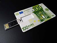 USB Flash, флешка на 16 GB в виде купюры 100 Евро