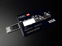 USB флешка 16 GB в виде кредитной карты HSBC Visa