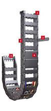 UNIFLEX Перевірена часом кабеленесущая ланцюг з різноманітними варіантами прорізів і кришок