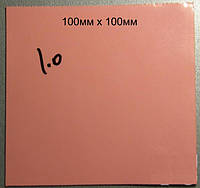 Термопрокладка под радиатор 2мм розовая; 3.8w/mK 50*50мм; селикогель