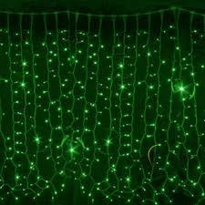 Гирлянда DELUX CURTAIN 288LED 1.5x1m(зелёный цвет диодов/черный/белый провод)