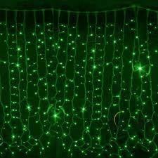 Гирлянда DELUX CURTAIN 288LED 1.5x1m(зелёный цвет диодов/черный/белый провод), фото 2