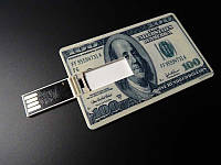 USB накопитель, флешка на 16 GB в виде купюры 100 Долларов