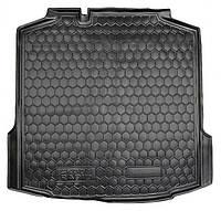 Коврик в багажник Skoda Rapid (лифтбэк) 2012 - черные, пластиковые (Avto-Gumm, 211385) - штука