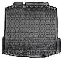 Коврик в багажник Skoda Rapid (лифтбэк) 2012 -, черные, пластиковые (Avto-Gumm, 211385) - штука