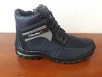 Чоловічі зимові черевики темно сині теплі (код 4533), фото 1