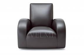 Кресло для ожидания Стерео экокожа черная (Velmi TM)
