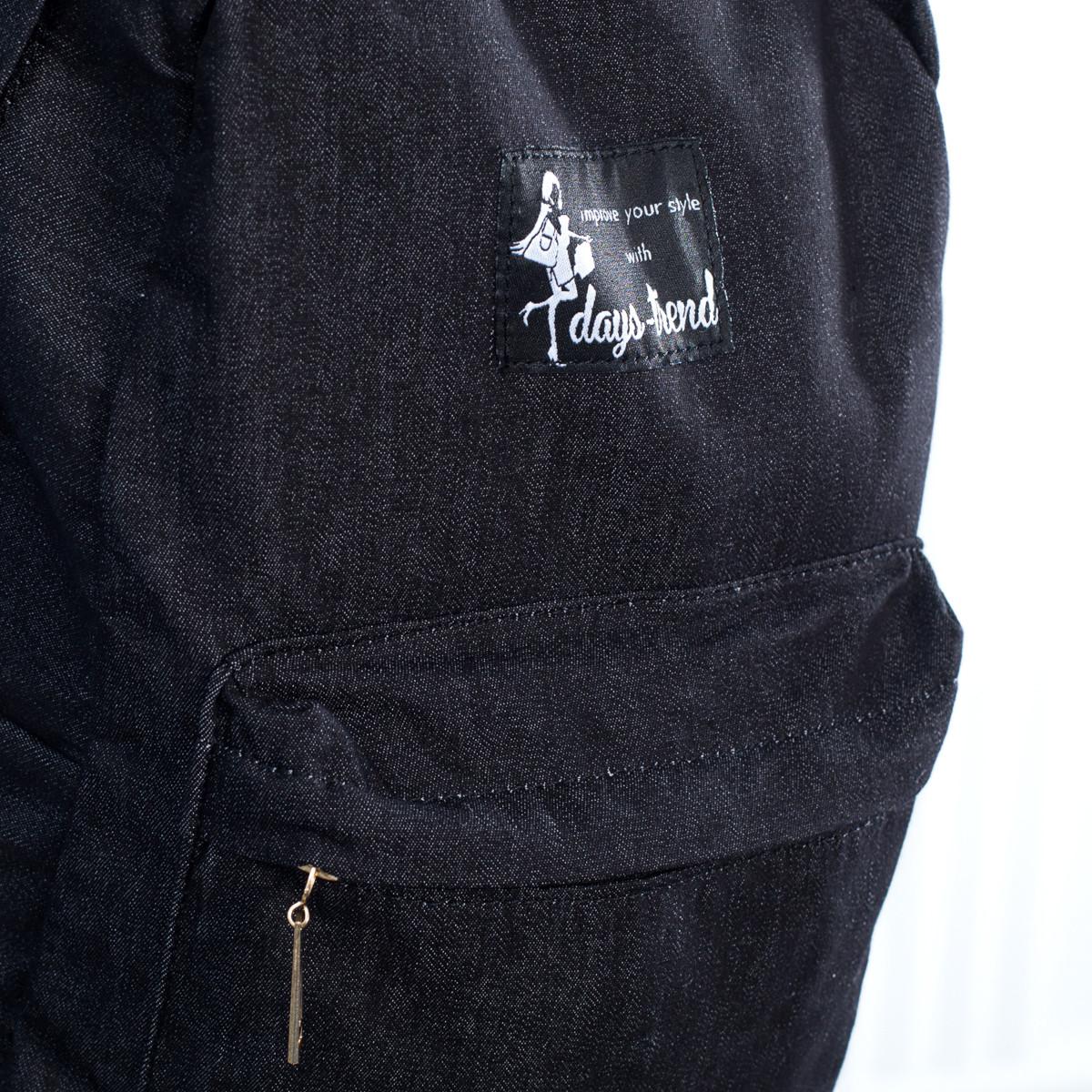 Стильный женский джинсовый рюкзак Mayers с логотипом, фото 3