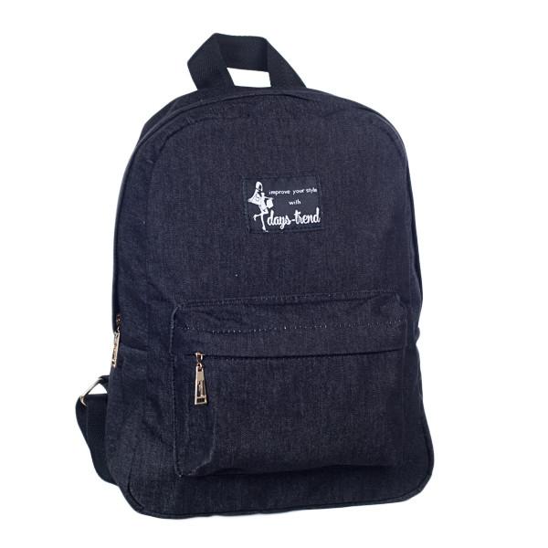 Стильный женский джинсовый рюкзак Mayers с логотипом, фото 4