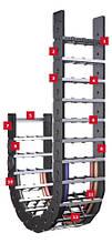 Серія K Недорога, міцна кабеленесущая система також підходить для великих додаткових навантажень