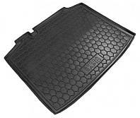 Коврик в багажник Skoda Rapid (хэтчбек) 2012 - черный, пластиковые (Avto-Gumm 211457) - штука