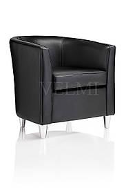 Кресло для ожидания Elle экокожа черная (Velmi TM)