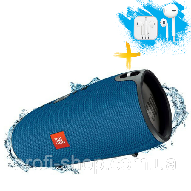 Портативная Bluetooth колонка JBL Xtreme блютуз Bluetooth MP3 FM USB. Синяя. Blue