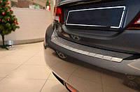 Накладка на бампер с загибом Volkswagen Passat B7 4D 2010-2014 NataNiko Double Elite