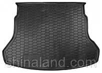 Коврики в багажник Hyundai Accent V (седан) 2017 -, черные, пластиковые (Avto-Gumm, 211630) - штука