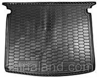 Коврик в багажник Vw Caddy Life III (универсал) 2004 - 2015 черные, полиуретановые (Avto-Gumm, 111557) - штука