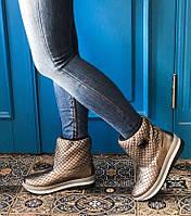 Зимние стёганные ботинки Carlo Pachini (серебро), фото 1