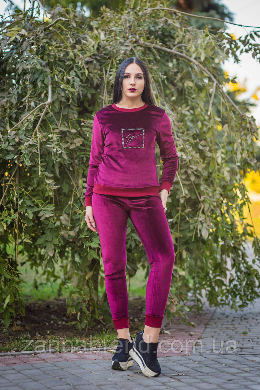 66eb8b09bfa4 Спортивный костюм из верюра женский ZANNA BREND малиновый, цена 450 грн.,  купить в Харькове — Prom.ua (ID#804448959)