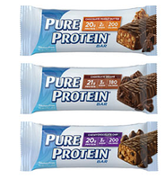 Протеиновые батончики без сахара, Pure Protein Bar, 50 gram (20 грам протеина)