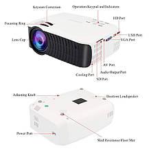 Видеопроектор Hoolick портативный LCD 1080P Full-HD , фото 3