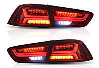 Задние фонари Led оптика Mitsubishi Lancer X 10 (красные)