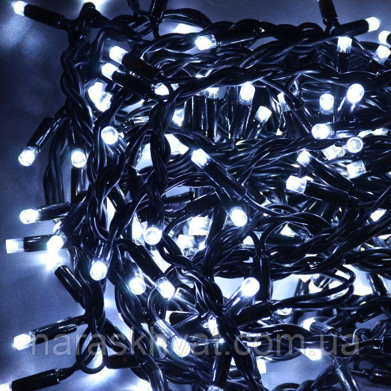 Гирлянда уличная Штора LED 240, холодный белый, чёрный провод