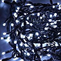 Гирлянда уличная Штора LED 240, холодный белый, чёрный провод, фото 1