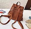 Рюкзак женский кожзам с бахромой Cowboys Backpacks Светло коричневый, фото 4