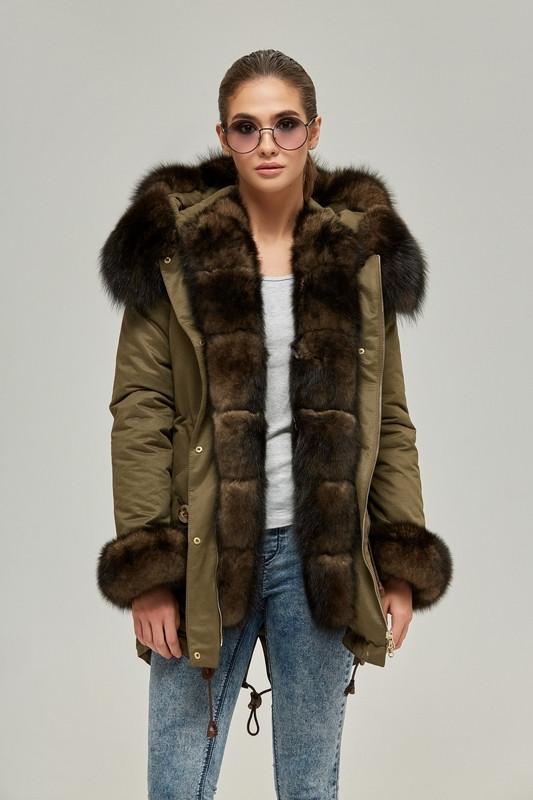 1859a26c Женская куртка-парка с натуральным мехом песца 42-52 р, цена 9 818 ...