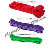 Резиновые петли (комплект 3 шт) нагрузка от 6 кг - 80 кг