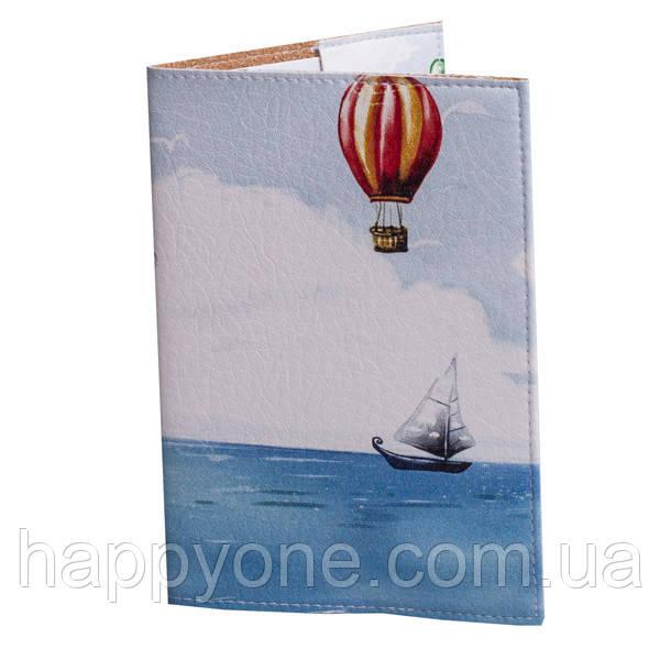 """Обложка на паспорт """"На воздушном шаре"""""""